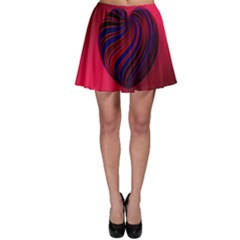 Heart Love Luck Abstract Skater Skirt