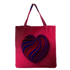Heart Love Luck Abstract Grocery Tote Bag
