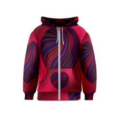 Heart Love Luck Abstract Kids  Zipper Hoodie
