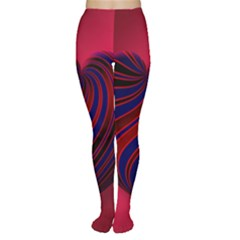 Heart Love Luck Abstract Women s Tights