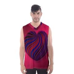 Heart Love Luck Abstract Men s Basketball Tank Top
