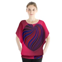 Heart Love Luck Abstract Blouse