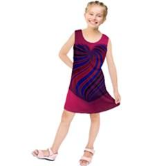 Heart Love Luck Abstract Kids  Tunic Dress