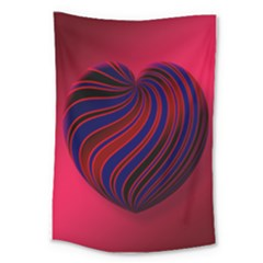 Heart Love Luck Abstract Large Tapestry