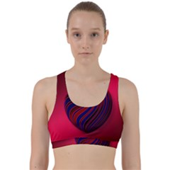 Heart Love Luck Abstract Back Weave Sports Bra