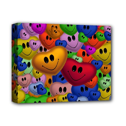 Heart Love Smile Smilie Deluxe Canvas 14  X 11