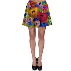 Heart Love Smile Smilie Skater Skirt