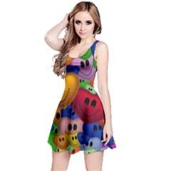 Heart Love Smile Smilie Reversible Sleeveless Dress