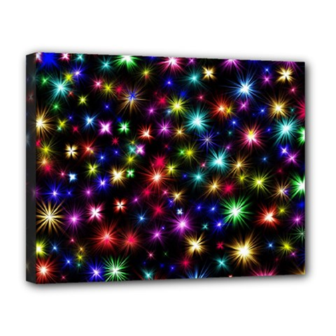 Fireworks Rocket New Year S Day Canvas 14  X 11