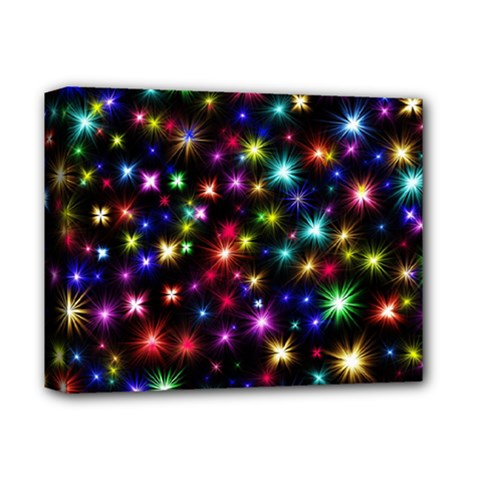 Fireworks Rocket New Year S Day Deluxe Canvas 14  X 11
