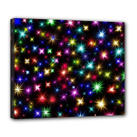 Fireworks Rocket New Year S Day Deluxe Canvas 24  X 20