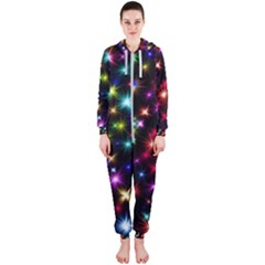 Fireworks Rocket New Year S Day Hooded Jumpsuit (ladies)