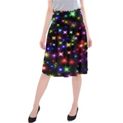 Fireworks Rocket New Year S Day Midi Beach Skirt