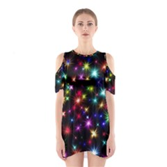 Fireworks Rocket New Year S Day Shoulder Cutout One Piece
