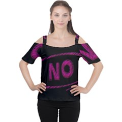 No Cancellation Rejection Cutout Shoulder Tee