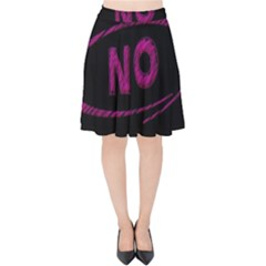 No Cancellation Rejection Velvet High Waist Skirt