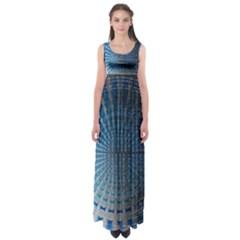 Data Computer Internet Online Empire Waist Maxi Dress