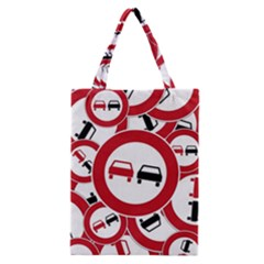 Overtaking Traffic Sign Classic Tote Bag