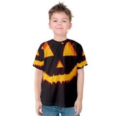 Pumpkin Helloween Face Autumn Kids  Cotton Tee
