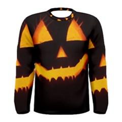 Pumpkin Helloween Face Autumn Men s Long Sleeve Tee