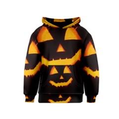 Pumpkin Helloween Face Autumn Kids  Pullover Hoodie