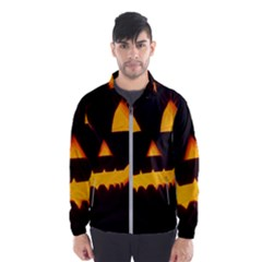 Pumpkin Helloween Face Autumn Wind Breaker (men)