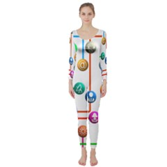 Icon Media Social Network Long Sleeve Catsuit
