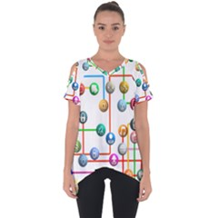 Icon Media Social Network Cut Out Side Drop Tee