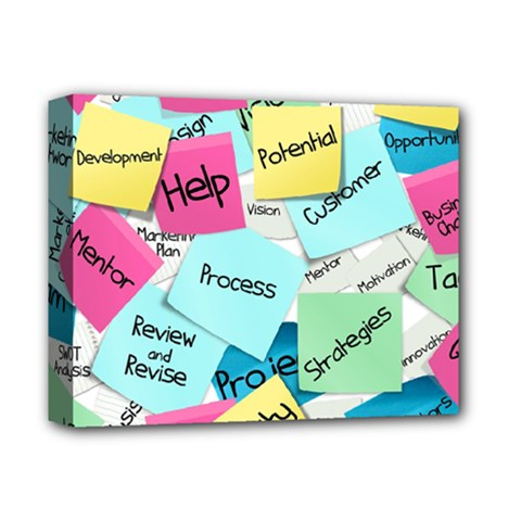 Stickies Post It List Business Deluxe Canvas 14  X 11