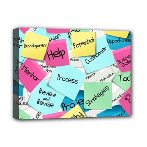 Stickies Post It List Business Deluxe Canvas 16  X 12