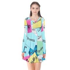 Stickies Post It List Business Flare Dress