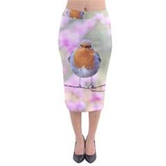 Spring Bird Bird Spring Robin Midi Pencil Skirt