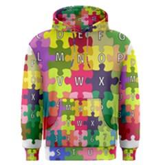 Puzzle Part Letters Abc Education Men s Pullover Hoodie