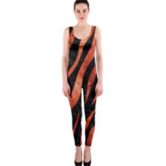 Skin3 Black Marble & Copper Paint (r) Onepiece Catsuit