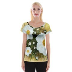 Summer Anemone Sylvestris Cap Sleeve Tops