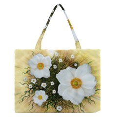 Summer Anemone Sylvestris Zipper Medium Tote Bag