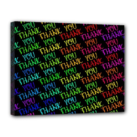 Thank You Font Colorful Word Color Canvas 14  X 11