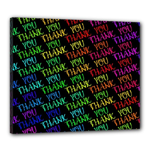 Thank You Font Colorful Word Color Canvas 24  X 20