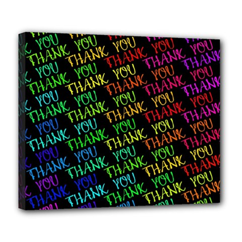 Thank You Font Colorful Word Color Deluxe Canvas 24  X 20