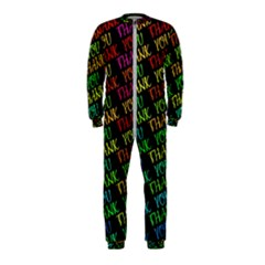 Thank You Font Colorful Word Color Onepiece Jumpsuit (kids)