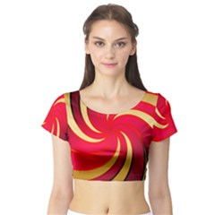 Tinker Color Share Many About Short Sleeve Crop Top