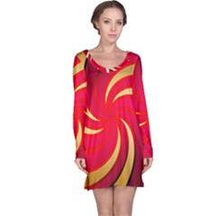 Tinker Color Share Many About Long Sleeve Nightdress