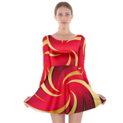 Tinker Color Share Many About Long Sleeve Skater Dress