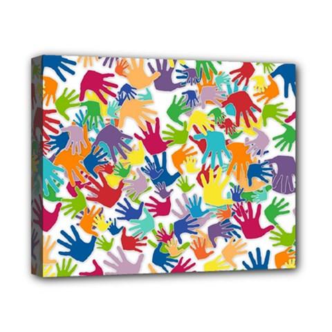 Volunteers Hands Voluntary Wrap Canvas 10  X 8