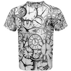 Time Clock Watches Time Of Men s Cotton Tee