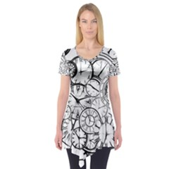 Time Clock Watches Time Of Short Sleeve Tunic