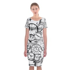 Time Clock Watches Time Of Classic Short Sleeve Midi Dress