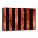 STRIPES1 BLACK MARBLE & COPPER PAINT Canvas 18  x 12  View1