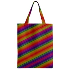 Spectrum Psychedelic Green Zipper Classic Tote Bag