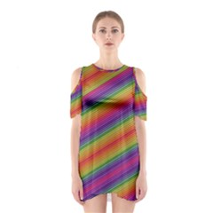 Spectrum Psychedelic Green Shoulder Cutout One Piece